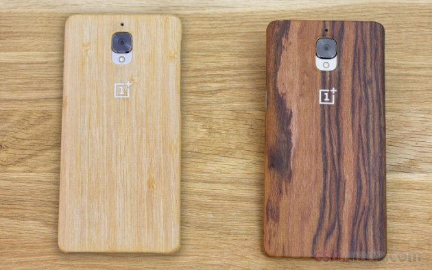 Finishes that simulate wood on the OnePlus 3