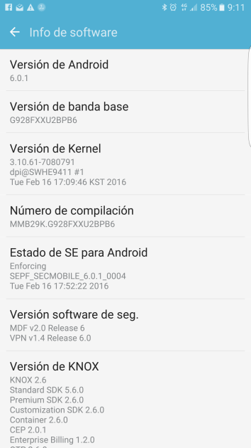 Samsung Galaxy S6 Edge Plus with Android Marshmallow