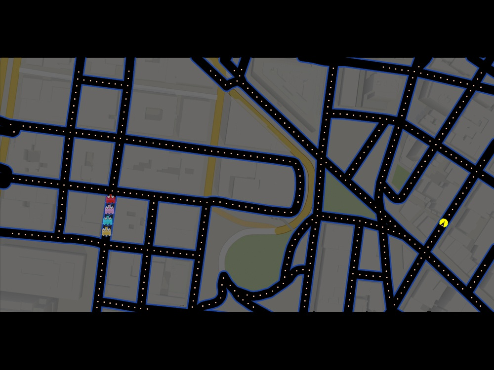 Map in Google Maps to play Pac-Man