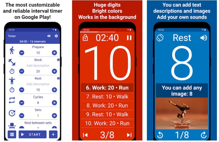 Intensity and crossfit timer apps