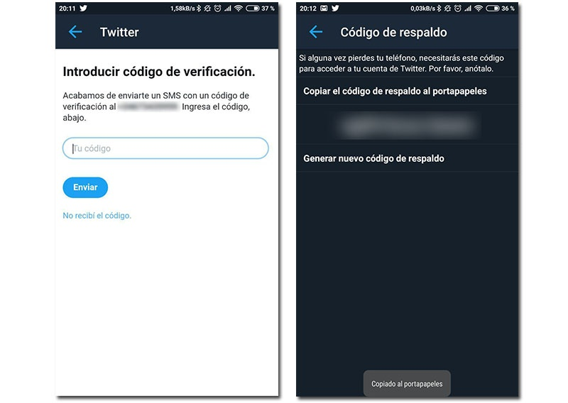 two-step authentication on Twitter