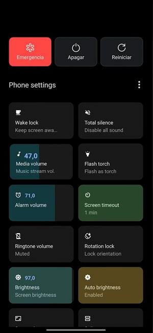 customize android power button