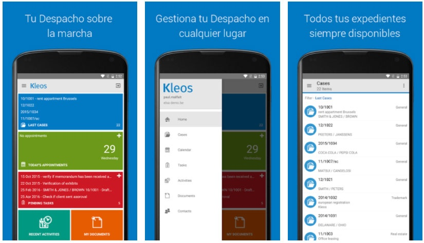 kleos apps for lawyers