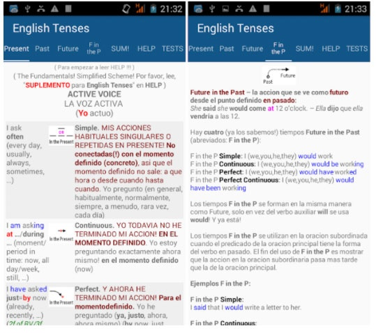 Times in English free apps week 7