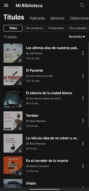audible library