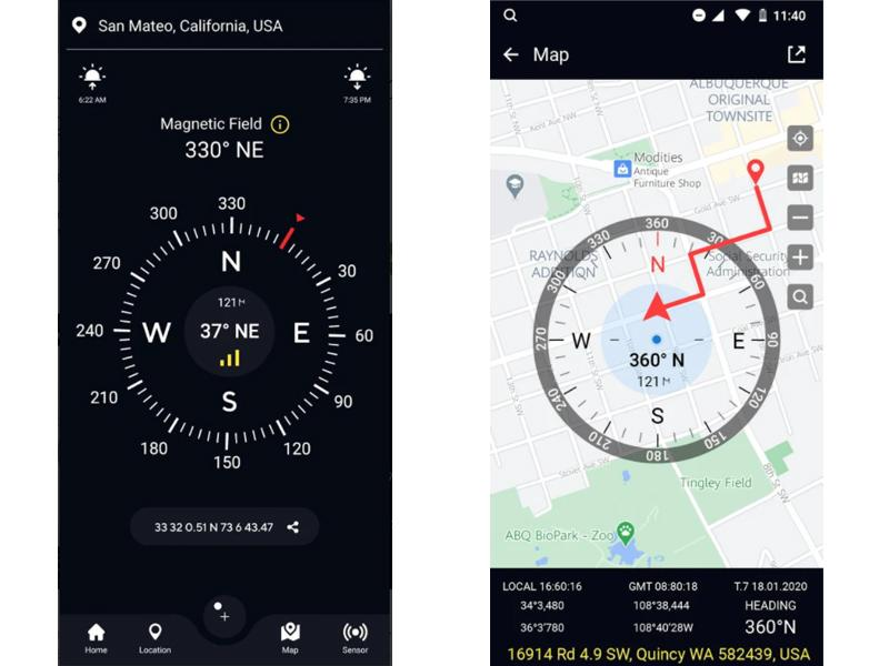 Free compass for Android