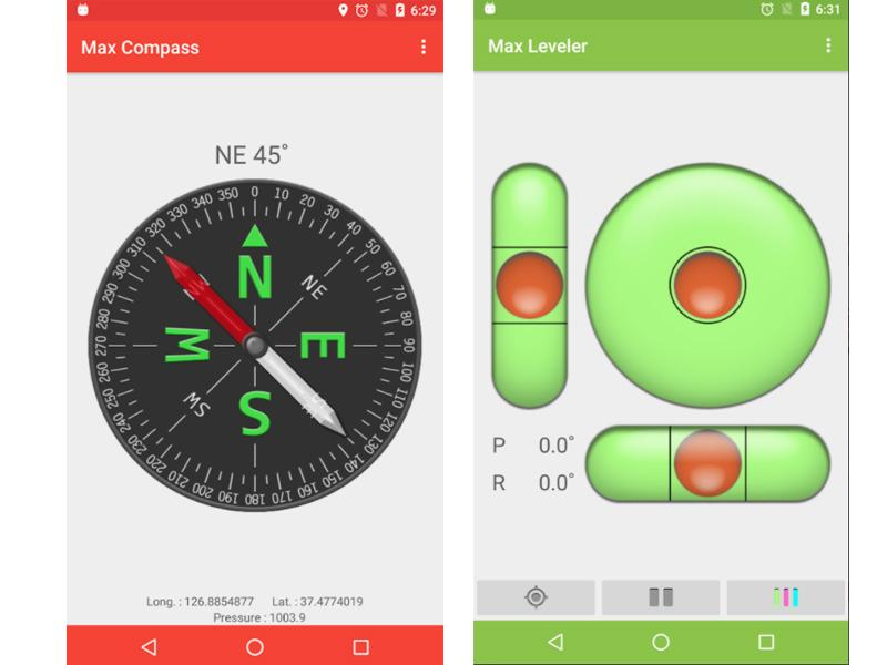 compass and level
