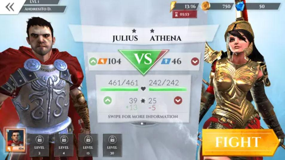 gods of rome selection fighters
