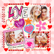 Scrapbook Love Collage for Couples