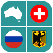 Geographic Quiz: flags, maps and shields
