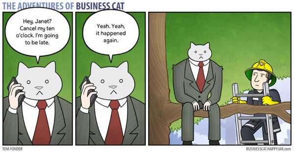 Hilarious Comics Show How Work Would Be If Your Boss Was a Cat