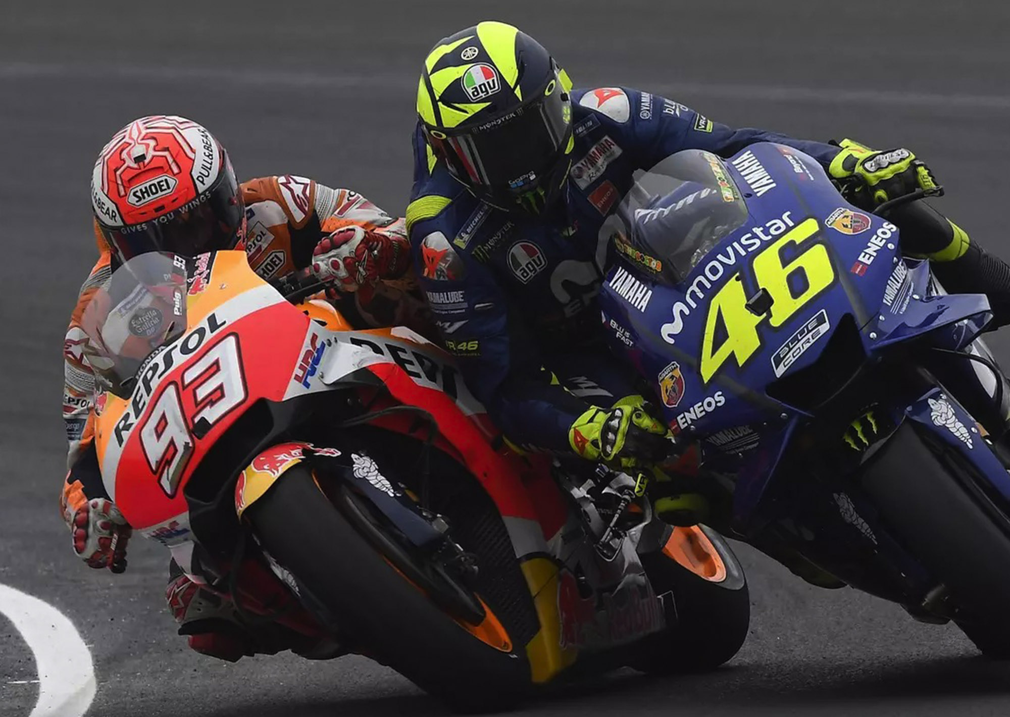 Valentino Rossi and Marc Marquez race (thedrive.com)