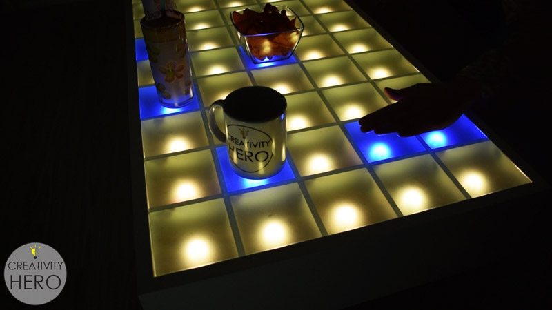Arduino Blog Make An Interactive Coffee Table With Arduino And Leds