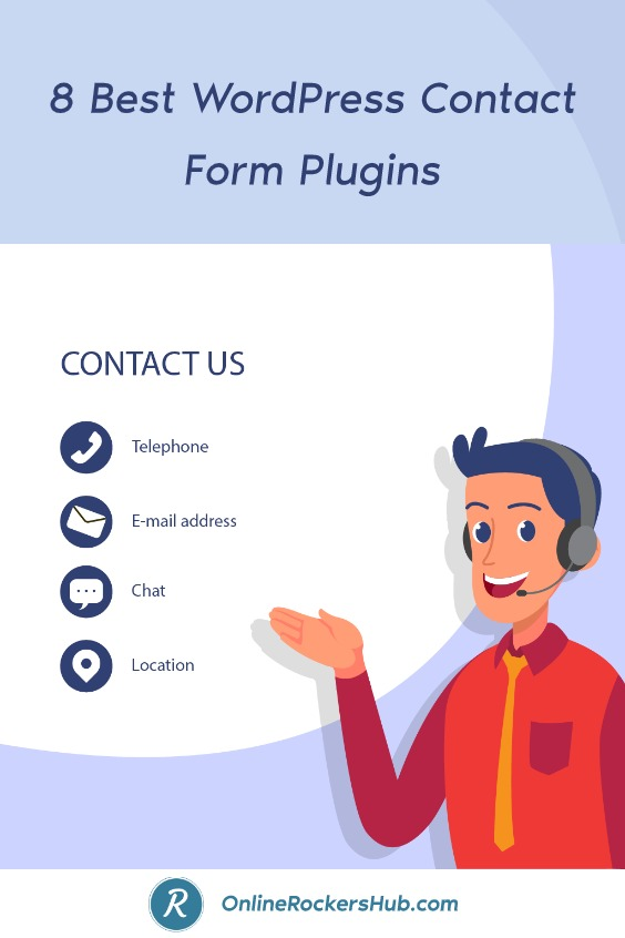 9 Best Contact Form Plugins in 2021 - Pinterest Image