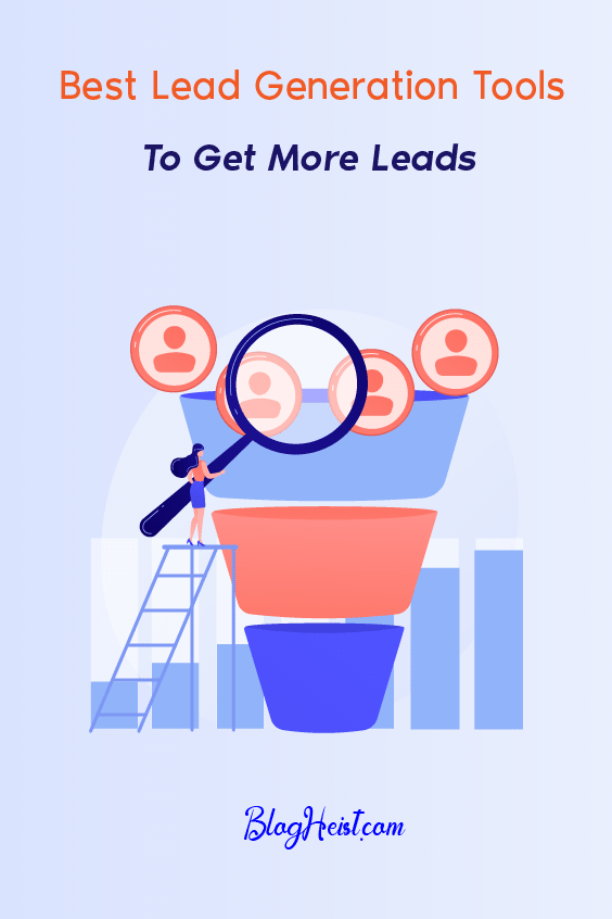 9 Best Lead Generation Tools to get more leads - Pinterest Image