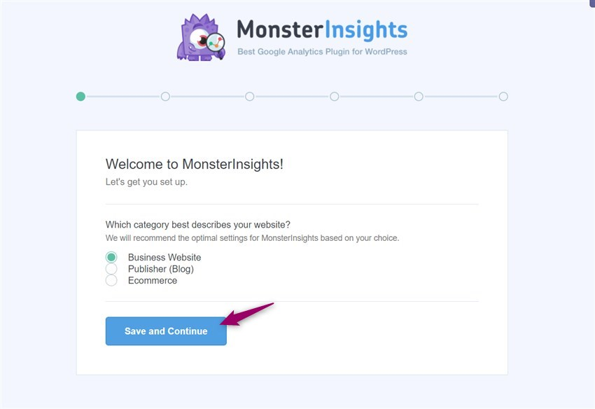launch monsterinsights