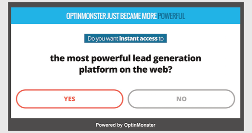 yes no popup