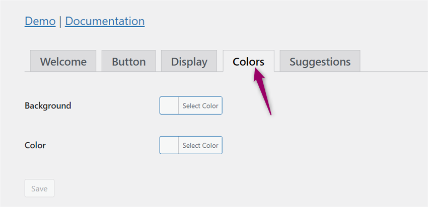 color configuration