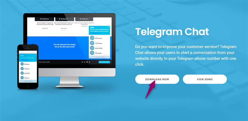 wp telegram chat download