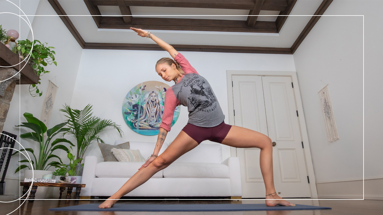 Improve your strength and power with this Free Boho Beautiful Total Body Yoga Flow by yoga teacher Juliana Spicoluk.