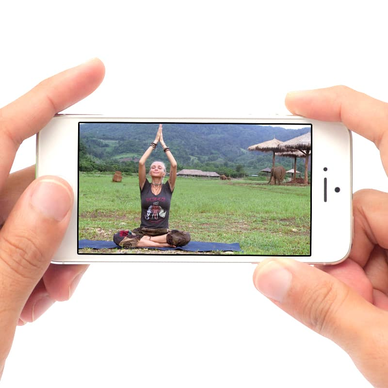 Yin Yoga Mobile Device