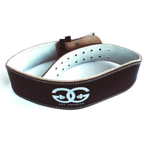 Black Leather Weight Belt By Get Gripped