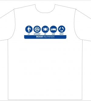 White Shirt - Boost Logos By Boost Nutrition