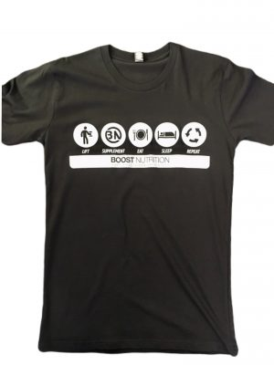 Black Shirt - Boost Logos By Boost Nutrition