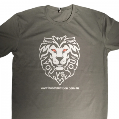 BN Lion Shirt By Boost Nutrition – Charcoal