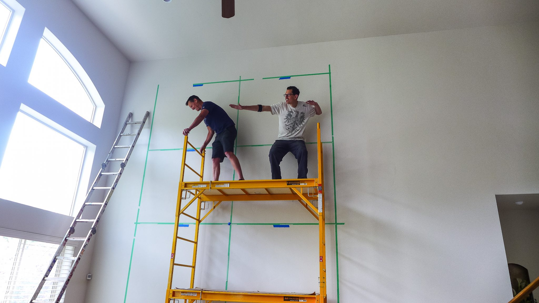 mike bowen and don bowen surfing scaffolding
