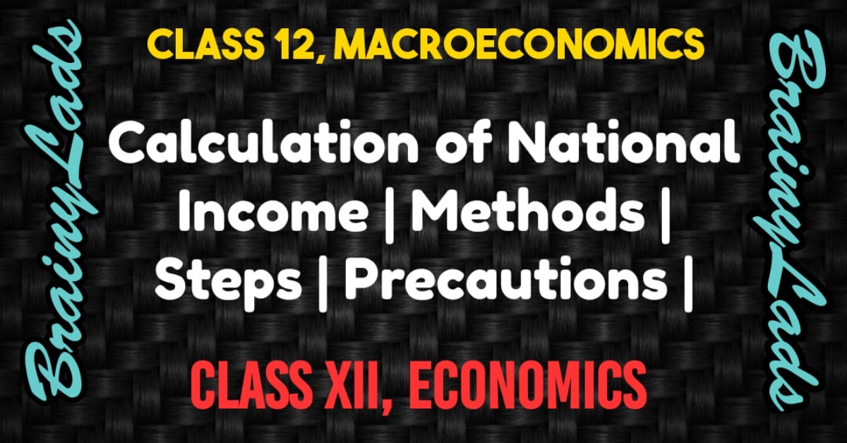 Calculation of National Income