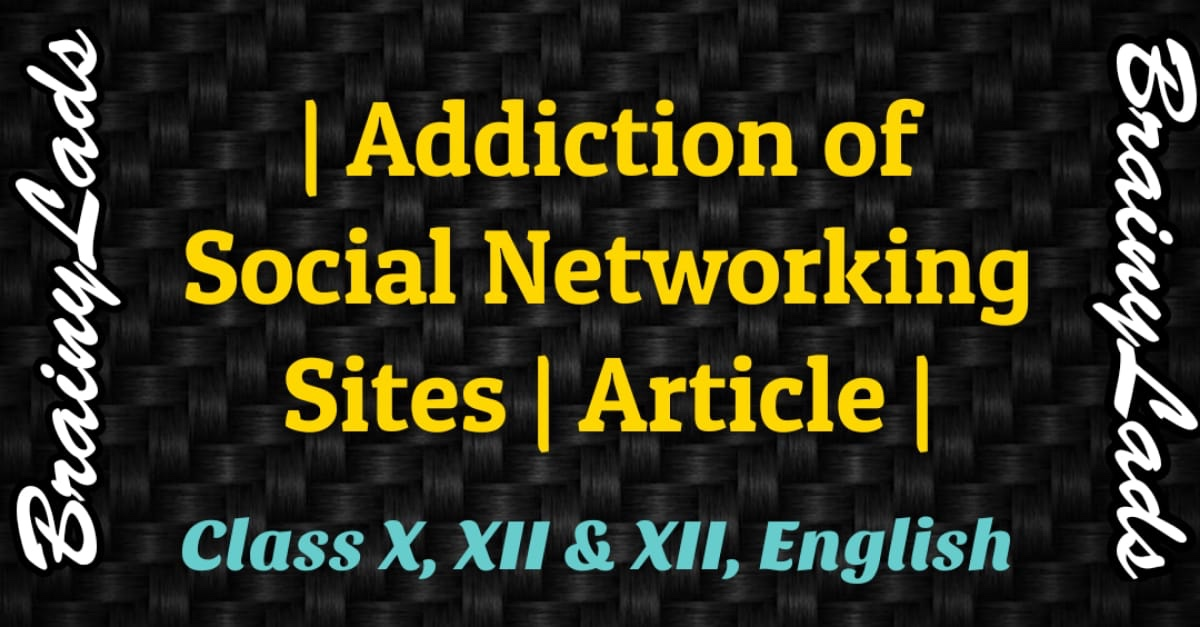 Addiction of Social Networking Sites