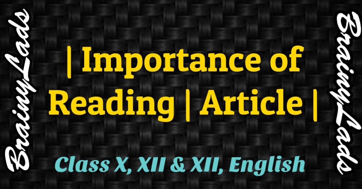 Article on Importance of Reading