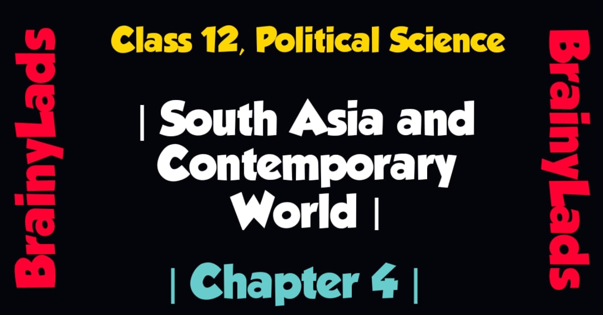 south asia and contemporary world