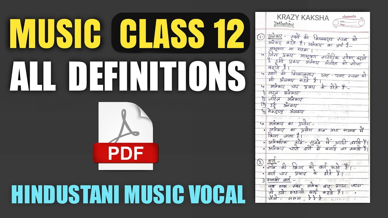 All Definitions in Music