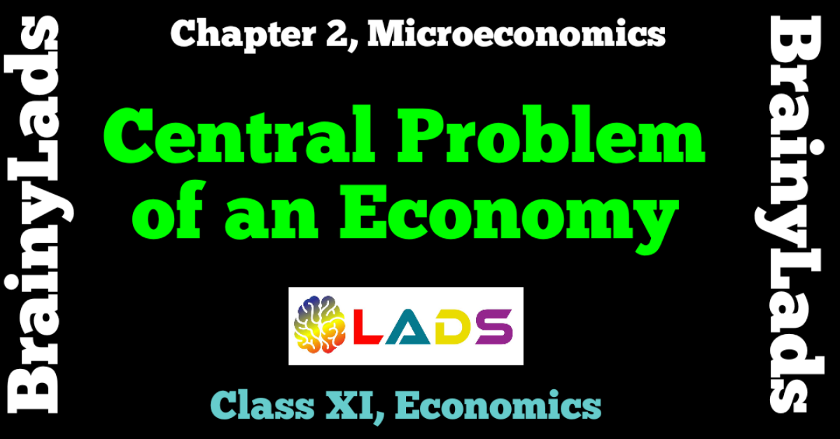 Central Problem of An Economy