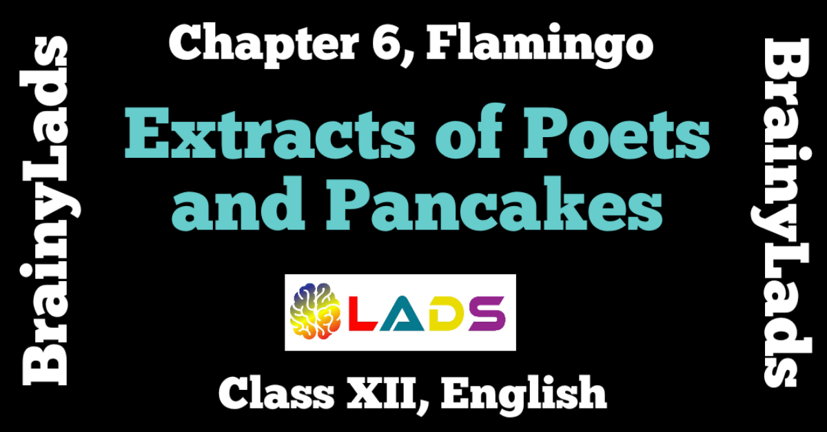 Extracts of Poets and Pancakes