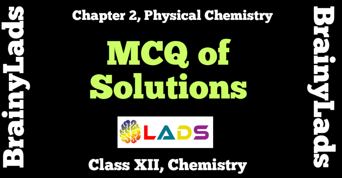 MCQ of Solutions