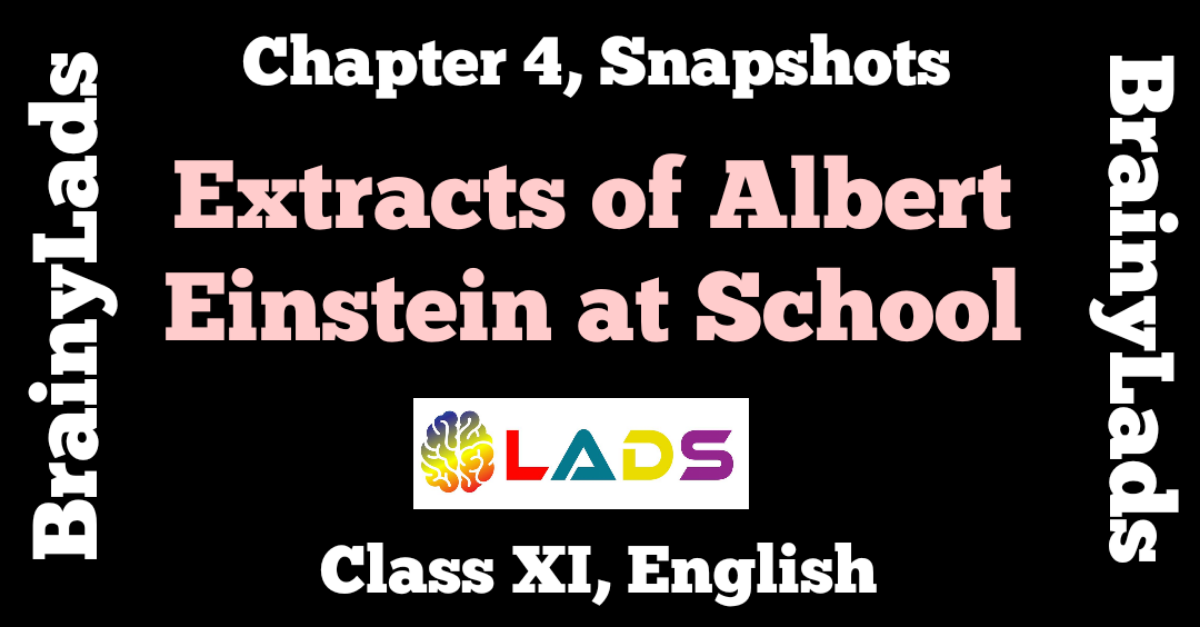 Extract Based Questions of Albert Einstein at School