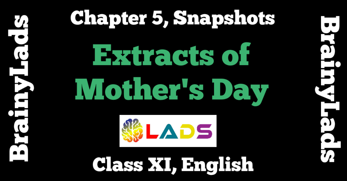 Extract Based Questions of Mother's Day