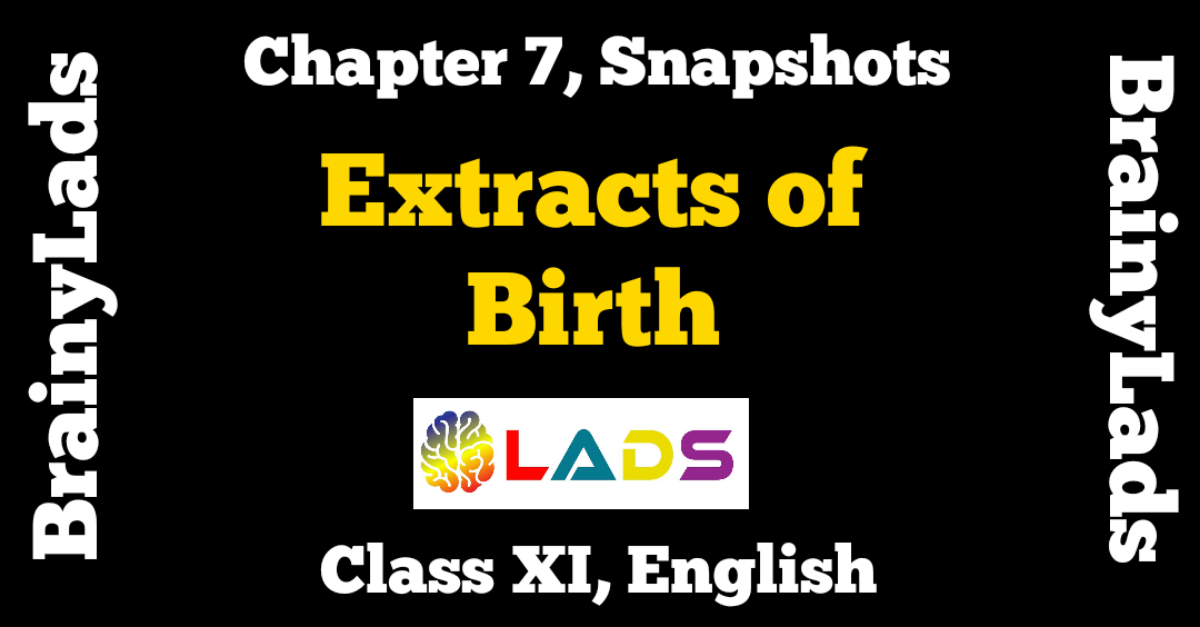 Extract Based Questions of Birth