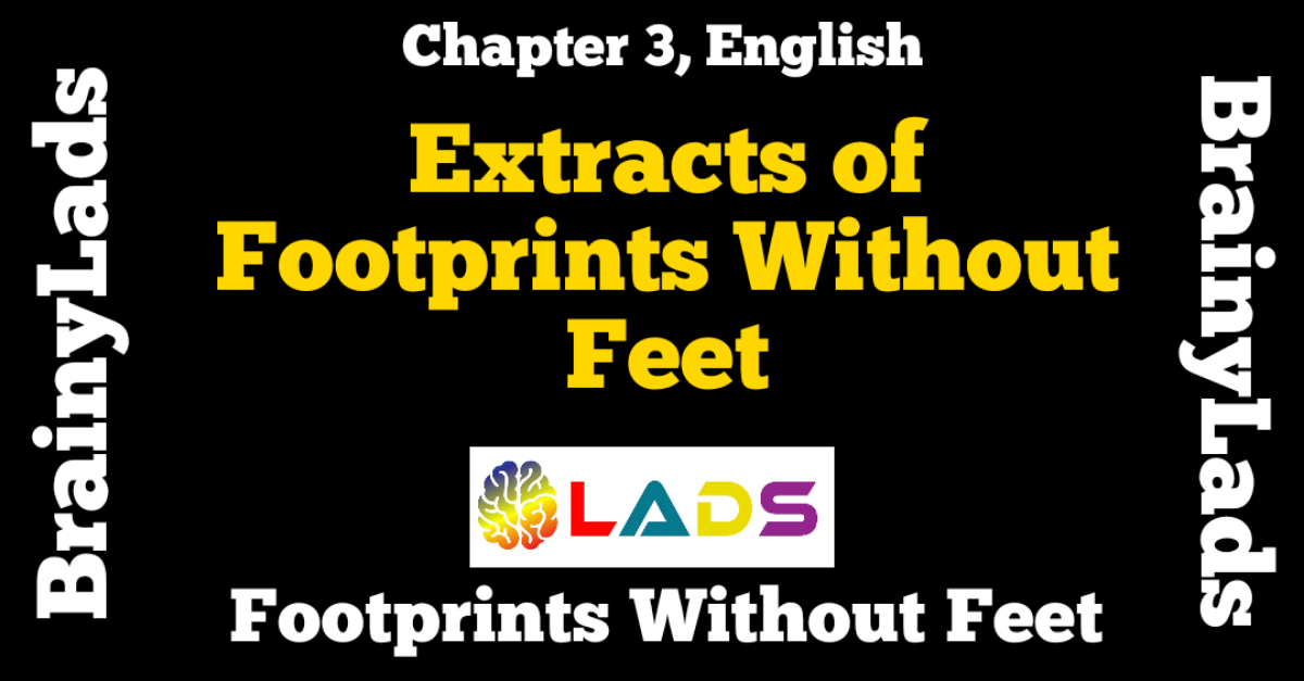 Extract Based Questions of Footprints Without Feet