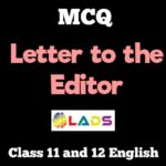 MCQ of Letter to Editor