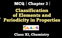 MCQ of Classification of Elements and Periodicity in Properties