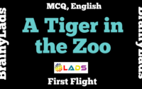 MCQ of A Tiger in the Zoo