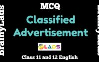 MCQ of Classified Advertisement