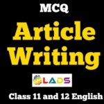 MCQ of Article Writing