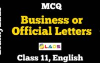 MCQ of Business or Official Letters