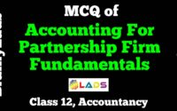 MCQ of Accounting for Partnership Firm