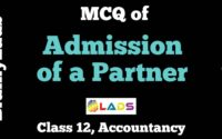 MCQ of Admission of a Partner
